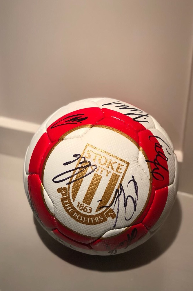 Win this signed Stoke City Football